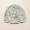 Crocheted Blue Newborn Beanie