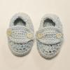 Crocheted Blue Newborn Booties