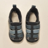 Navy Leather Sandals