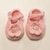 Crocheted Newborn Booties with Flower Detail